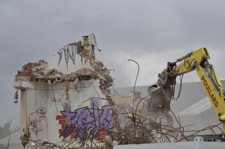 demolition site of a building Stockfoto - 121560874
