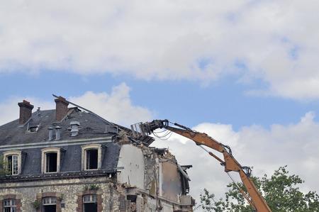 demolition site of a building Stockfoto - 121560879