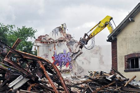 demolition site of a building Stockfoto - 121560880