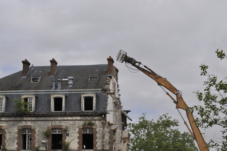 demolition site of a building Stockfoto - 118382686