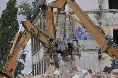 demolition site of a building Stockfoto - 118382688
