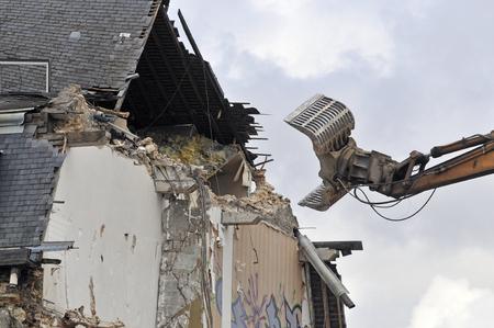 demolition site of a building
