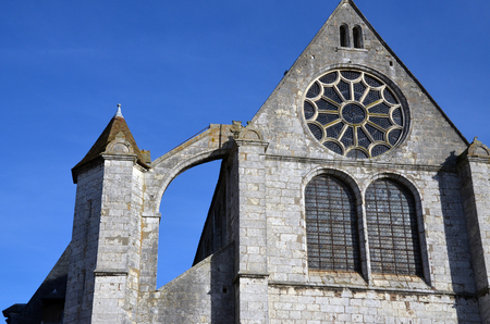 facade of the Saint-Aignan church of Chartres-France