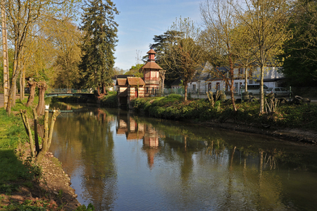 landscape of the banks of the Eure river in Chartres