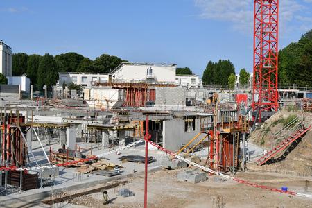construction site of a building Stock fotó