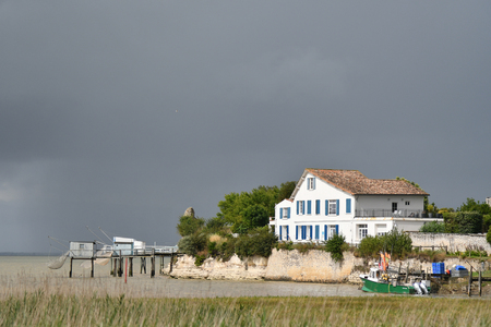landscape in the region of the Gironde estuary - France