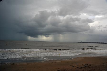 threatening sky on the beach