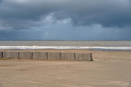 Acacia fence on the Royan beach
