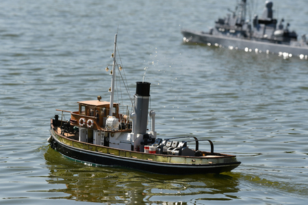 model boat and sailboat