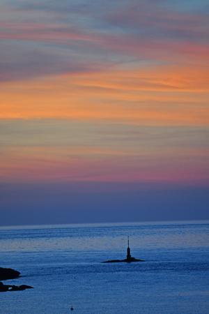 sunset on the Rocky Coast Tregastel