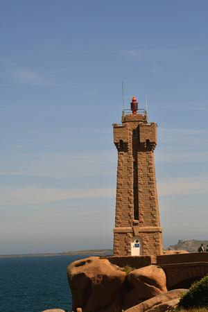 lighthouse of Ploumanach in the C?tes dArmor -France