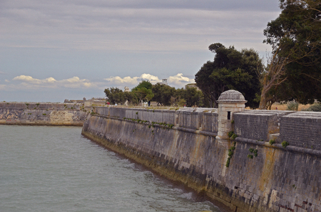 ramparts on the port of Saint Martin de Re - France