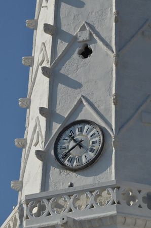 detail of the bell tower of Ars en Re - France