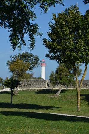 lighthouse of Saint Martin de Re - France Stockfoto - 124990226
