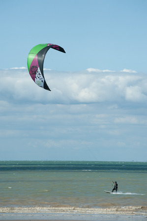 kitesurf on the island of R