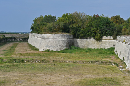 Vauban fortifications of the citadel of Saint Martin de Re Фото со стока
