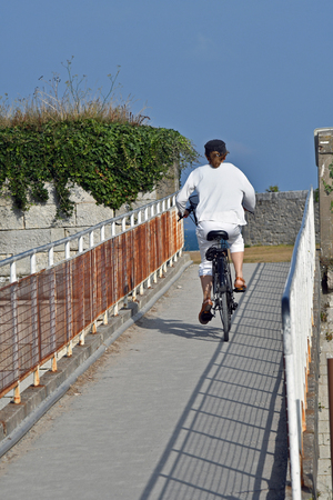 cyclist on the island of Re- France