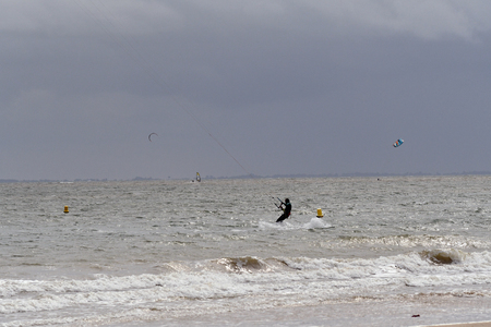 kitesurf on the island of Re-Franc Reklamní fotografie