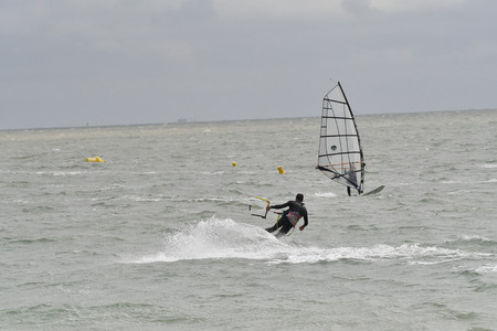 kitesurf on the island of Re-France Zdjęcie Seryjne