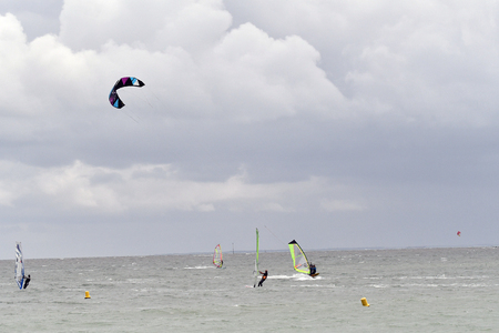 kitesurf on the island of Re-France Reklamní fotografie