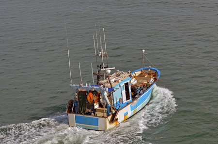 trawler in the sea Sajtókép