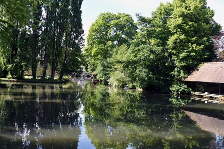 landscape on the river Eure in Chartres -France