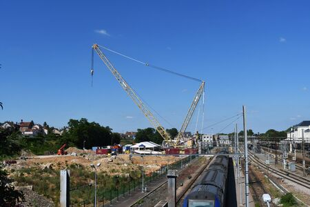 construction crane for exceptional work