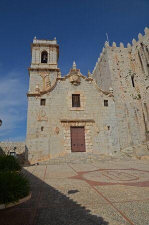 facade of the church of Peniscola-Spain