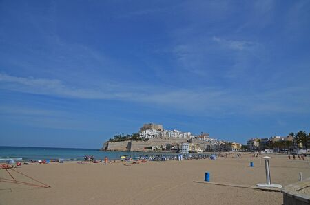 old town of Peniscola - Spain seen from the beach
