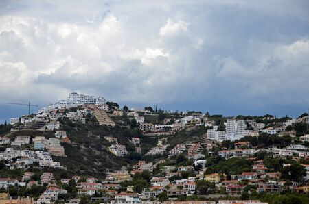 cityscape on the hills of Peniscola-Spain Stockfoto