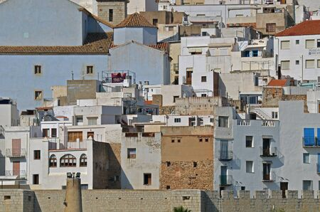 overview of the old town of Peniscola-Spain Stock Photo