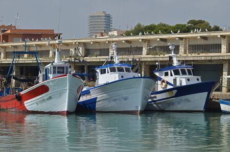 fishing boats in the port of Peniscola - Spain