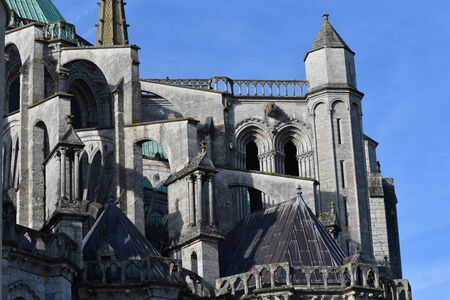 north facade of Notre Dame de Chartres cathedral -France