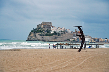 the old town of Peniscola - Spain and the castle Editorial
