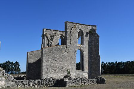 ruins of the abbey chateliers on the island
