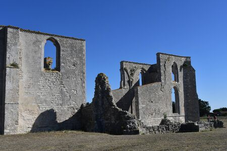 ruins of the abbey chateliers on the island of re-franc