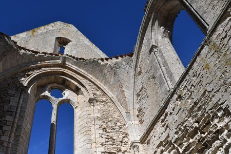 ruins of the Chateliers abbey on the island of Re-France Stock Photo