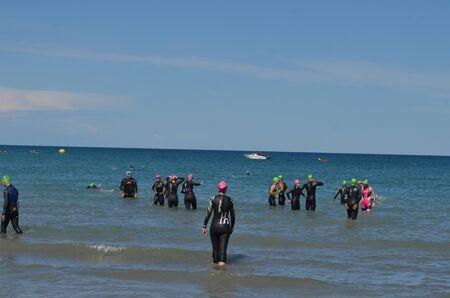 triathlon, - before departure