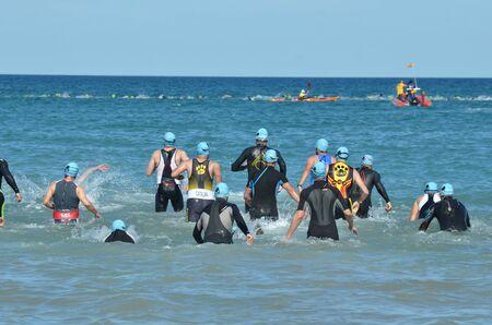 swimming triathlon Reklamní fotografie
