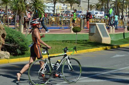 triathlon, bike race