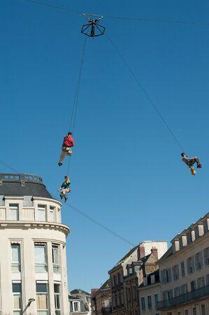 installation of festive high structures Standard-Bild
