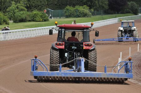track maintenance of a racetrack