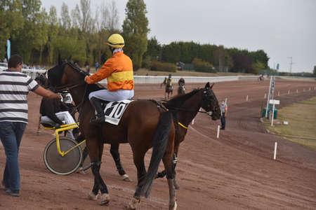 jockey on his race horse