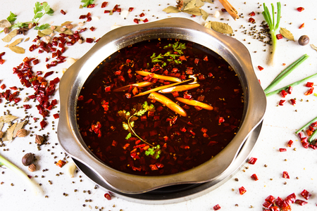 Spicy chili and red oil hot pot Stock fotó