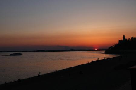 Sunset on the River Фото со стока