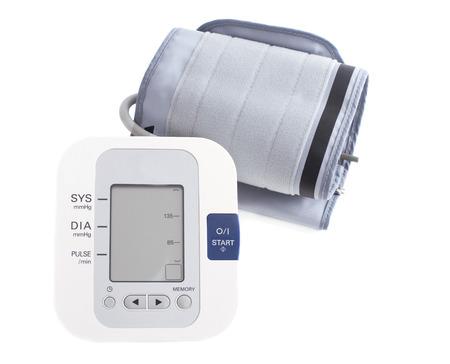 Moniteur numérique de la pression sanguine. Tonomètre. isolé sur fond blanc Banque d'images