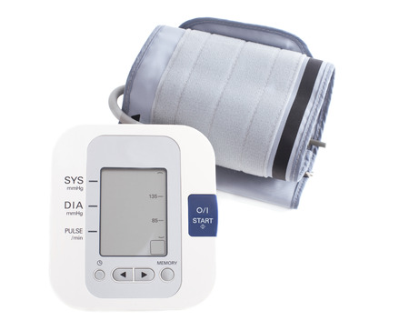 Digital blood pressure monitor. Tonometer. isolated on white background