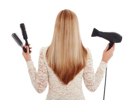 kapster: Blond haar en kapper