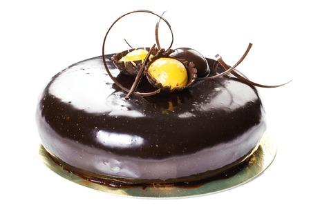 glaze: Pastry: Brownie. Chocolate Cake with caramel and glaze