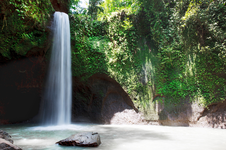 Beautiful Tibumana waterfall in bali